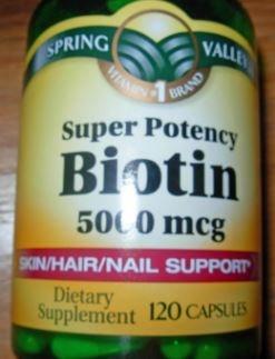 Biotin 500mcg 1000 supplement