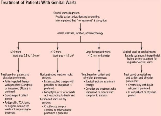 genital warts treatment plan